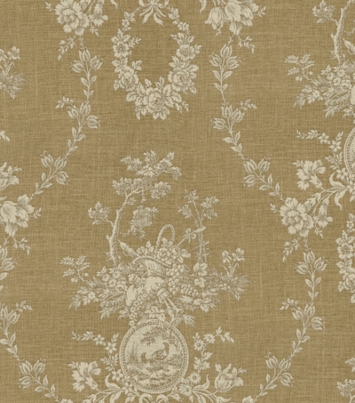 "Home Decor 8""x8"" Fabric Swatch-Waverly Country House /Linen"