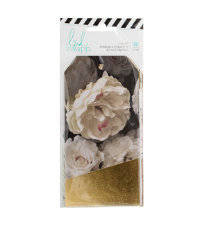 Heidi Swapp Magnolia Jane 32 Pack Foil Tags-Gold Leaf