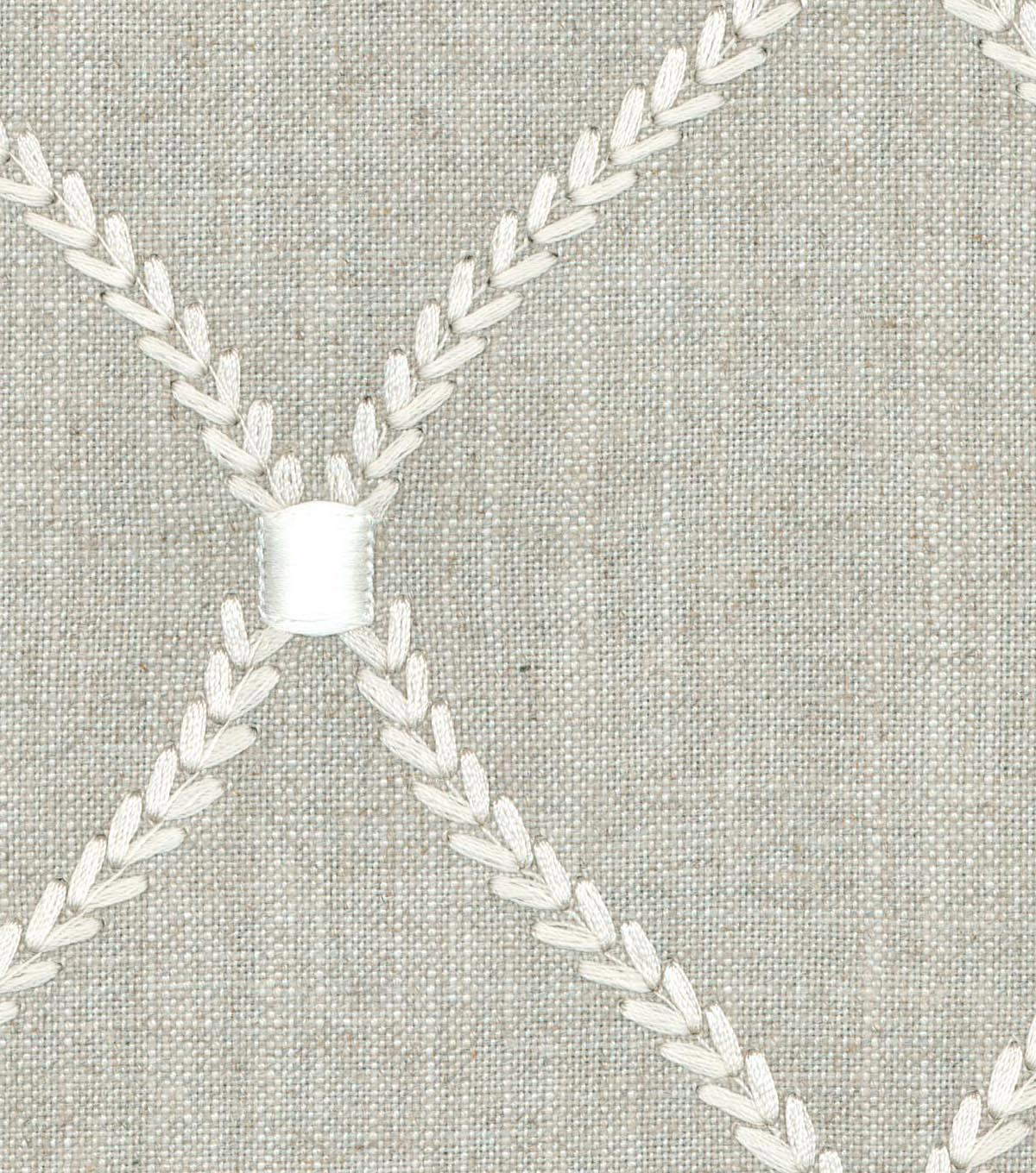 Williamsburg Upholstery Fabric 54\u0027\u0027-Flint Deane Embroidery