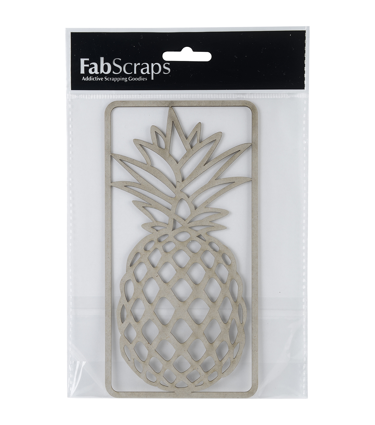 FabScraps Die-Cut Chipboard Embellishments-Large Pineapple
