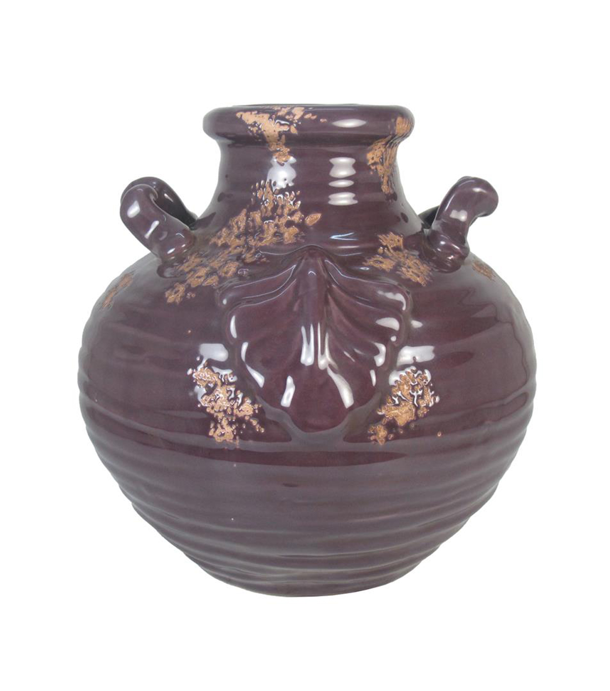Fall Into Color Ceramic Vase-Purple