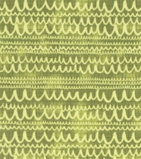 Modern Cotton Fabric 43\u0027\u0027-Scribble Lines on Green