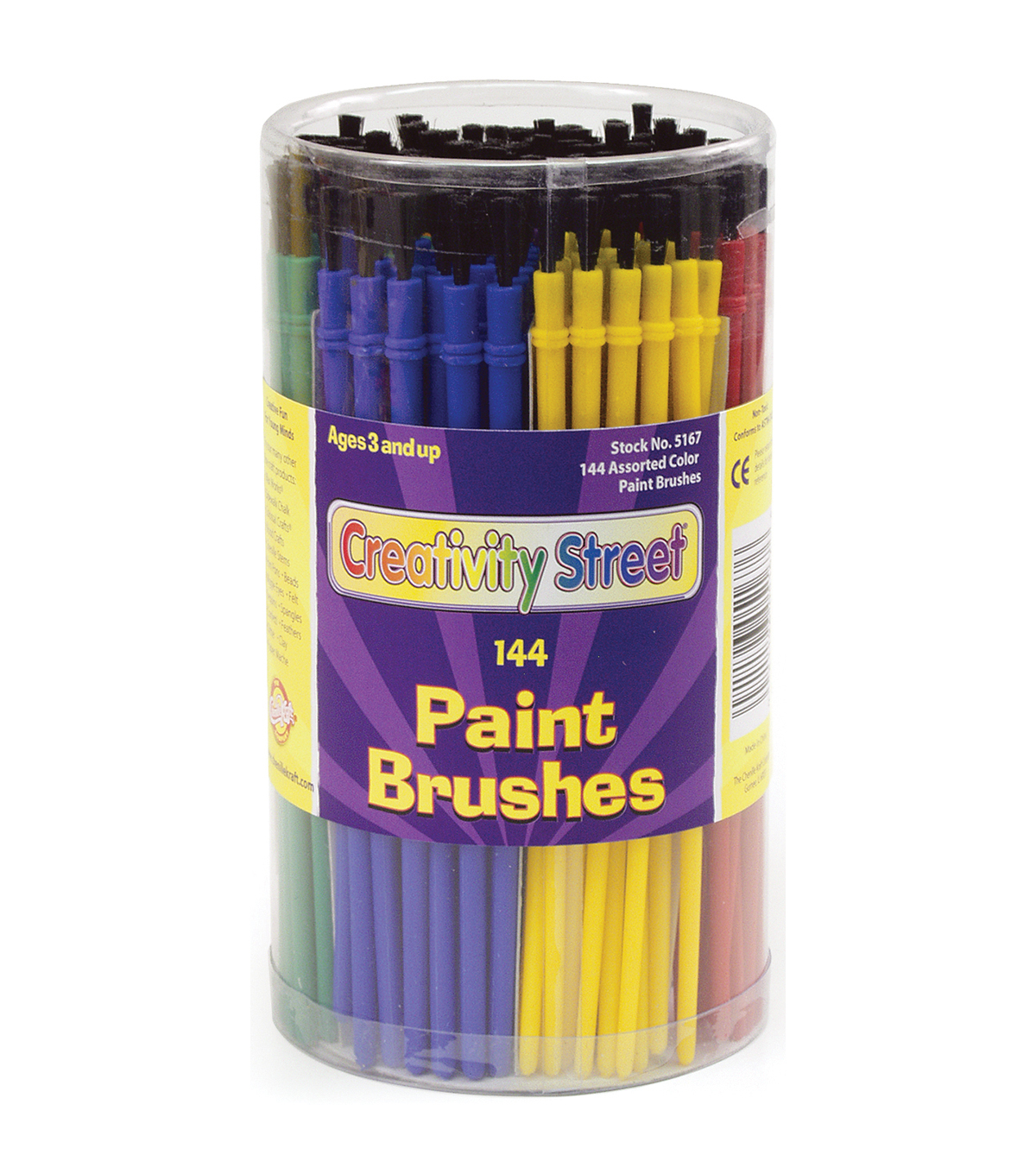 Economy Paint Brush Canister 144/Pkg