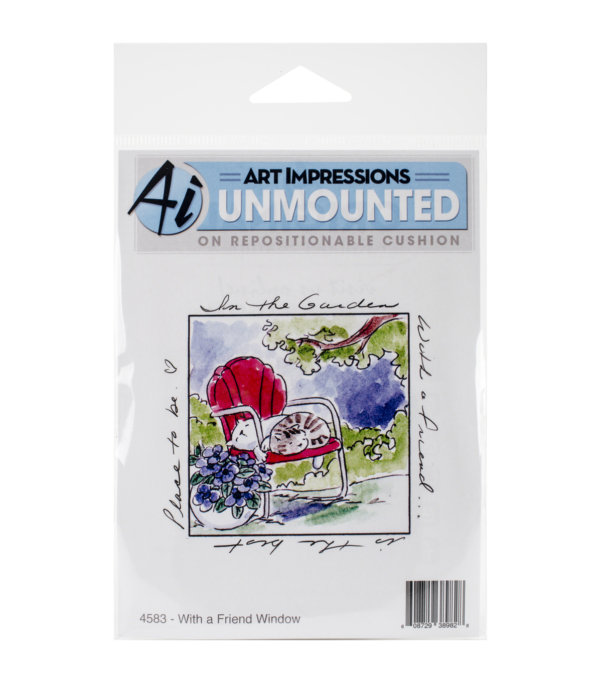 Art Impressions Windows To The World What A Friend Window Cling Stamp