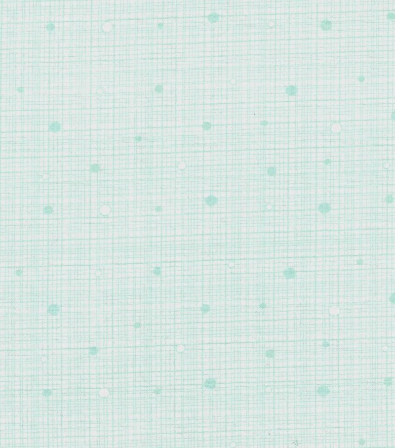 "Keepsake Calico™ Cotton Fabric 43""-Light Green Grid with Dots"