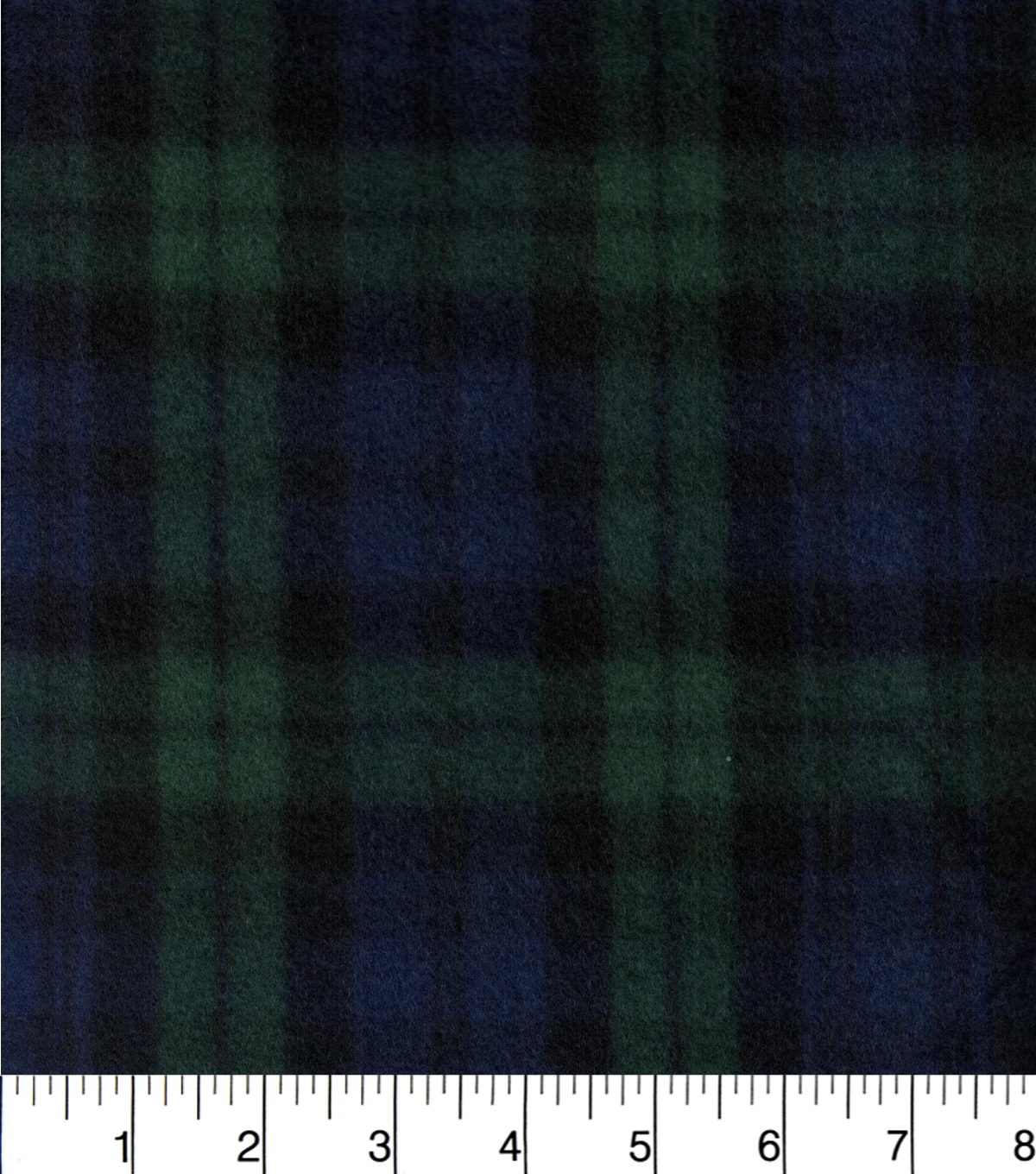 "Blizzard Fleece Fabric 58""-Navy And Green Plaid"