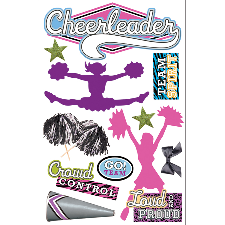 Paper House 3D Sticker Cheerleader