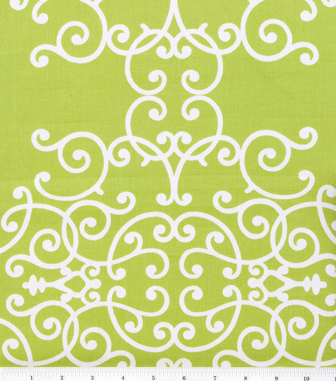 Robert Allen @ Home Print Fabric 54\u0022-Soft Scrolls Leaf