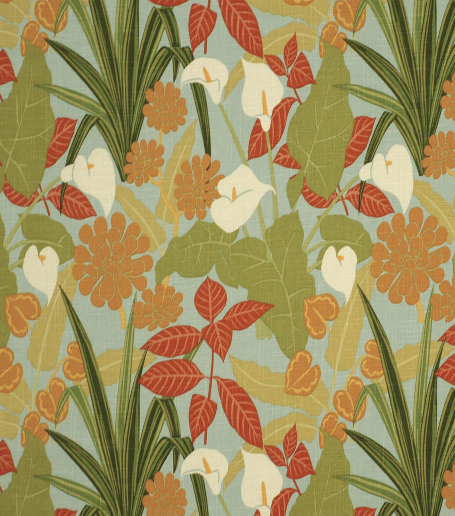 Home Decor Print Fabric-Robert Allen Rowlily Palm Beach | JOANN