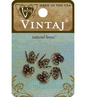 Vintaj 12Mm Filigree Bead Caps
