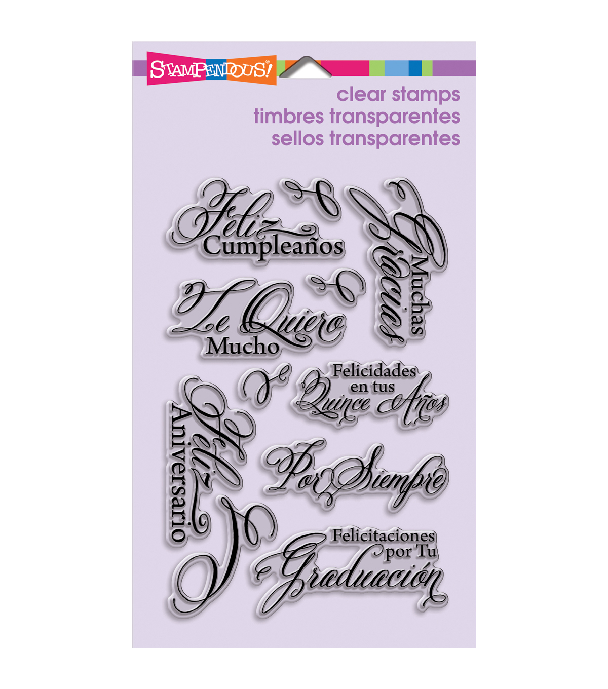 "Stampendous Perfectly Clear Stamps 4""X6"" Sheet-Spanish Greetings"