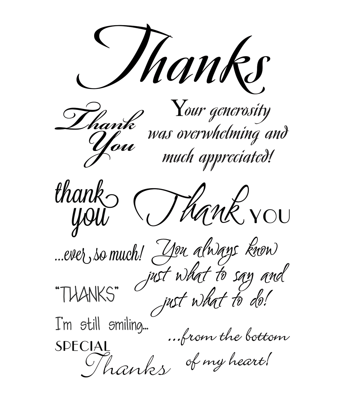 My Sentiments Exactly Clear Stamps-Thank You Innies & Outies