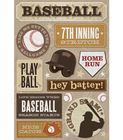 Karen Foster Cardstock Stickers-7th Inning Stretch