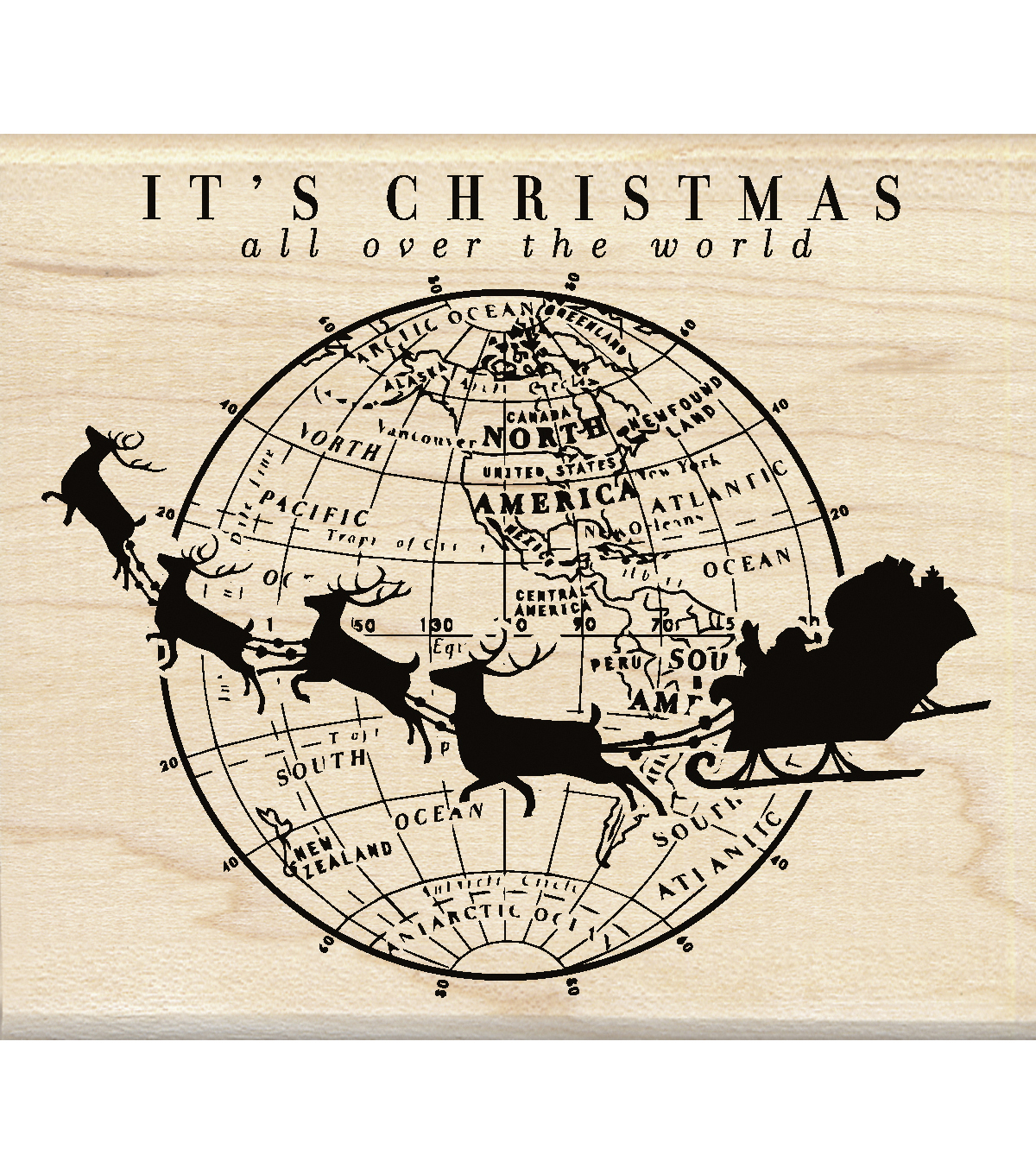Inkadinkado® Mounted Rubber Stamp-It's Christmas