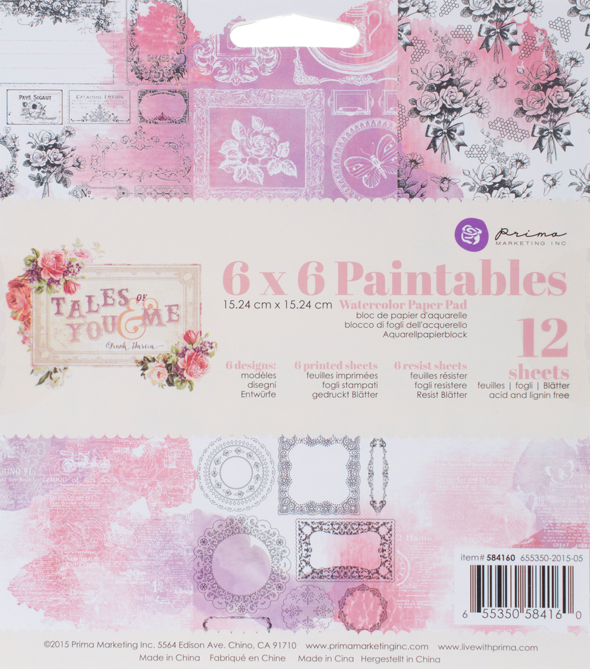 Paintables-tales You Me Pad 6x6
