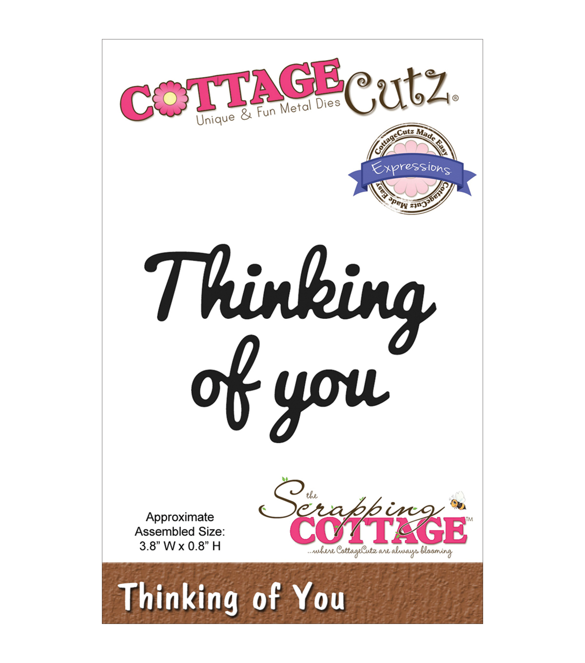 CottageCutz Expressions Thinking Of You Die