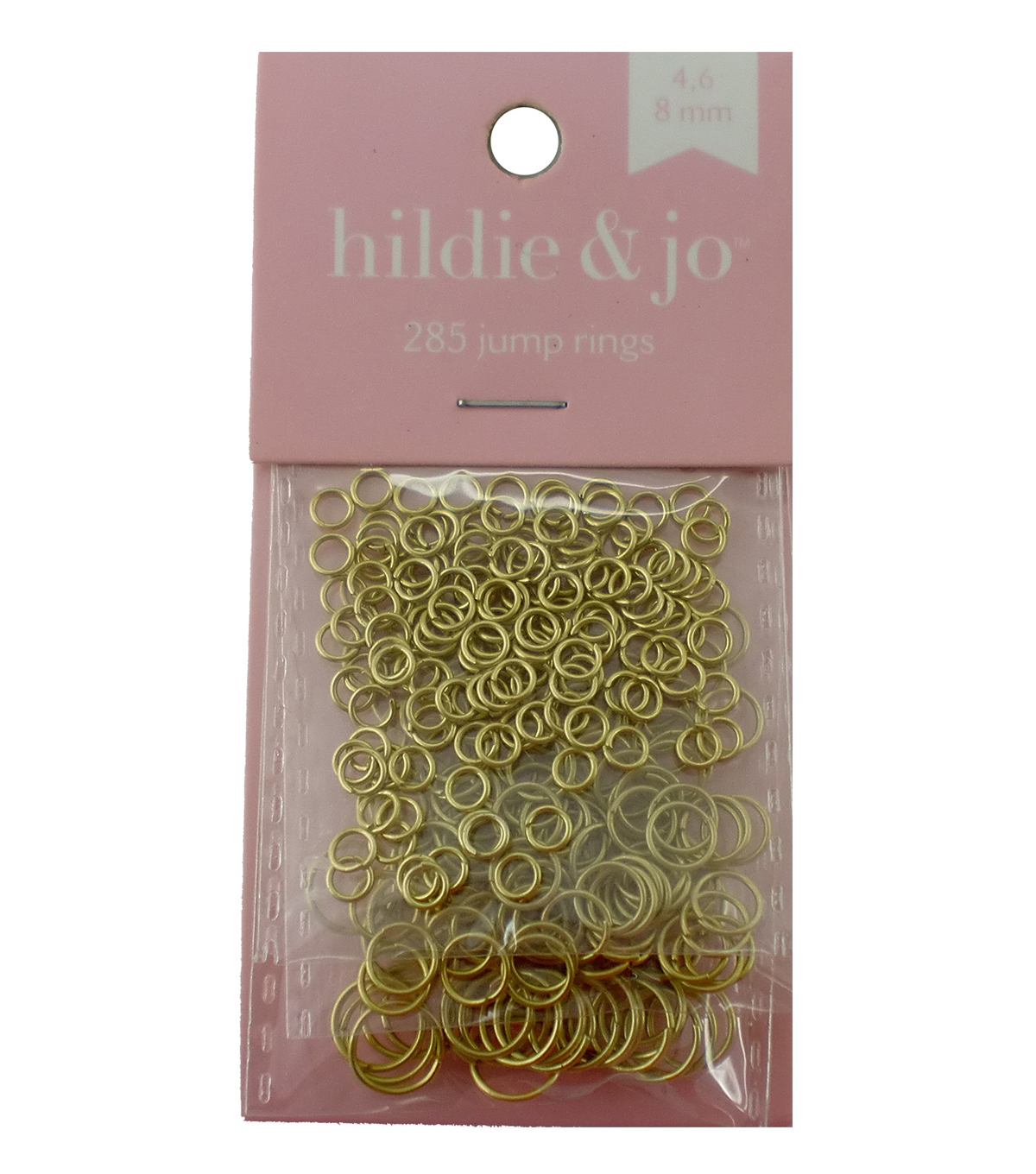 Blue Moon Findings Jump Ring Metal 4, 6 & 8mm Matte Gold