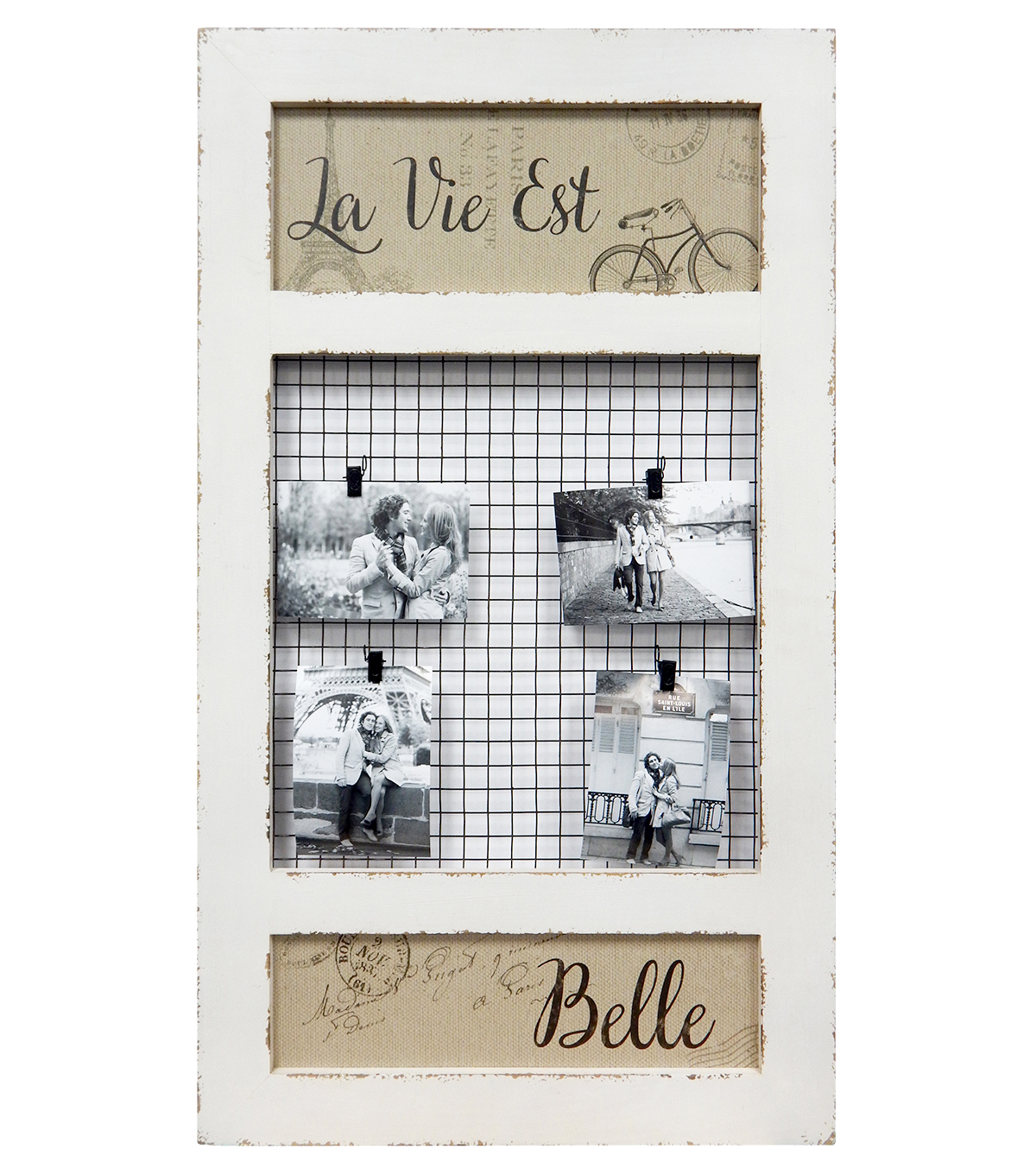 Buttercream™ Cosette Collection Wire Memoboard With Clips Distre