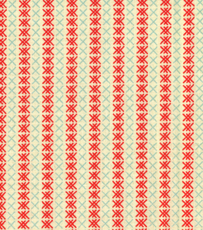 Made In the USA Christmas Fabric-Stitch Stripe Blue