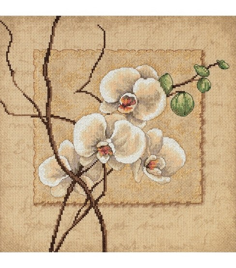 Dimensions Counted Cross Stitch Kit Oriental Orchids