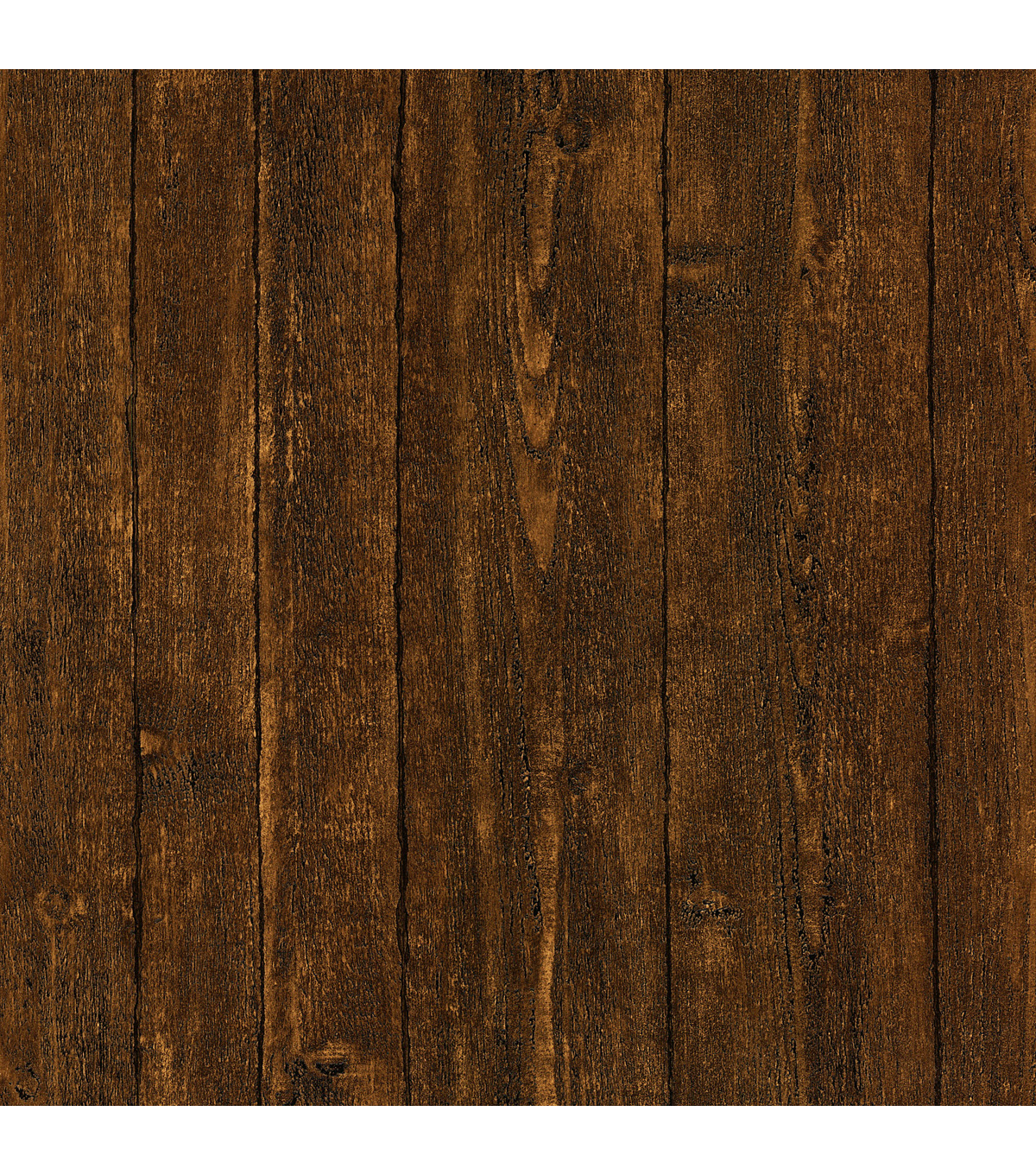 Ardennes Dark Brown Wood Panel Wallpaper