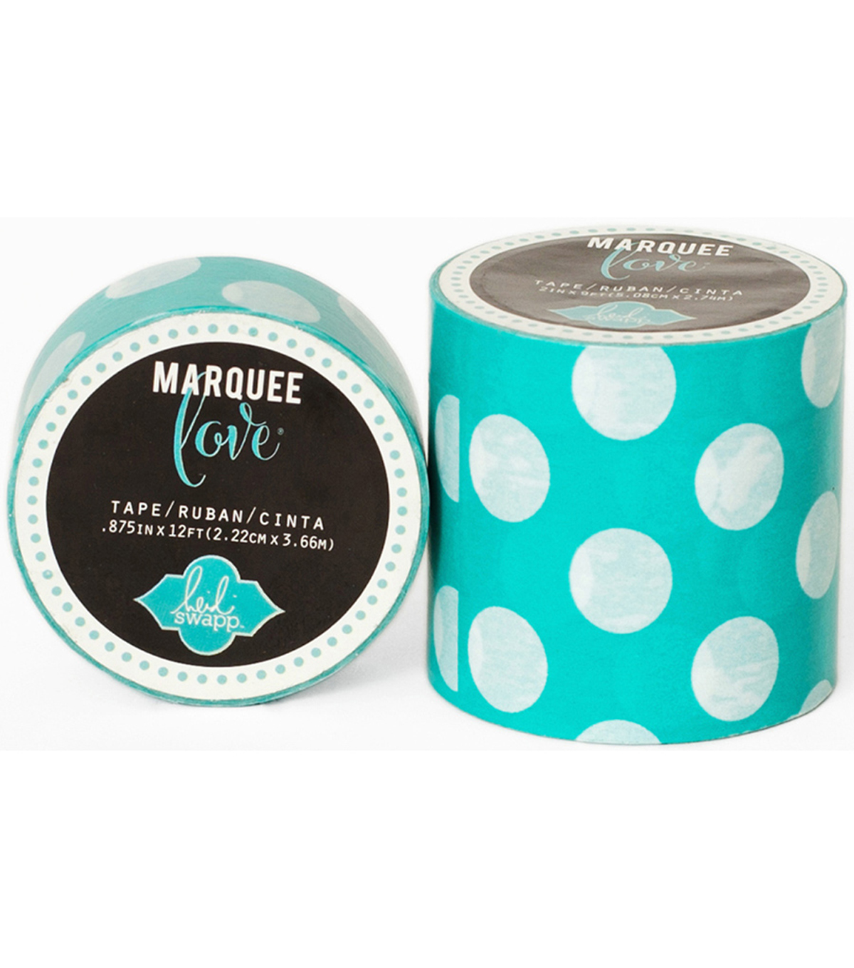 "Heidi Swapp Marquee Love Washi Tape .875""-Mint Polka Dot, 12'"