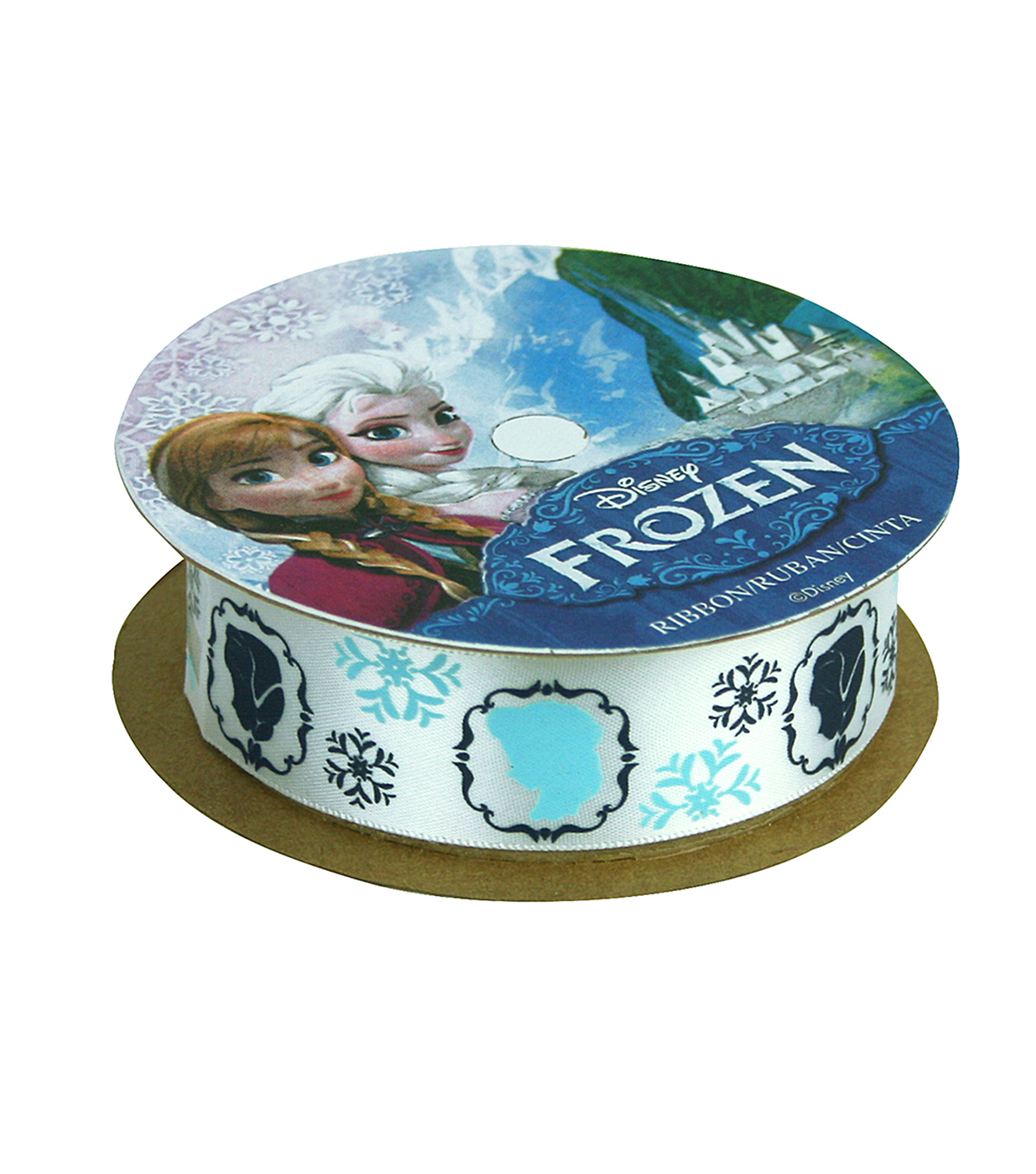"Frozen Ribbon 7/8""x9'-Characters White"