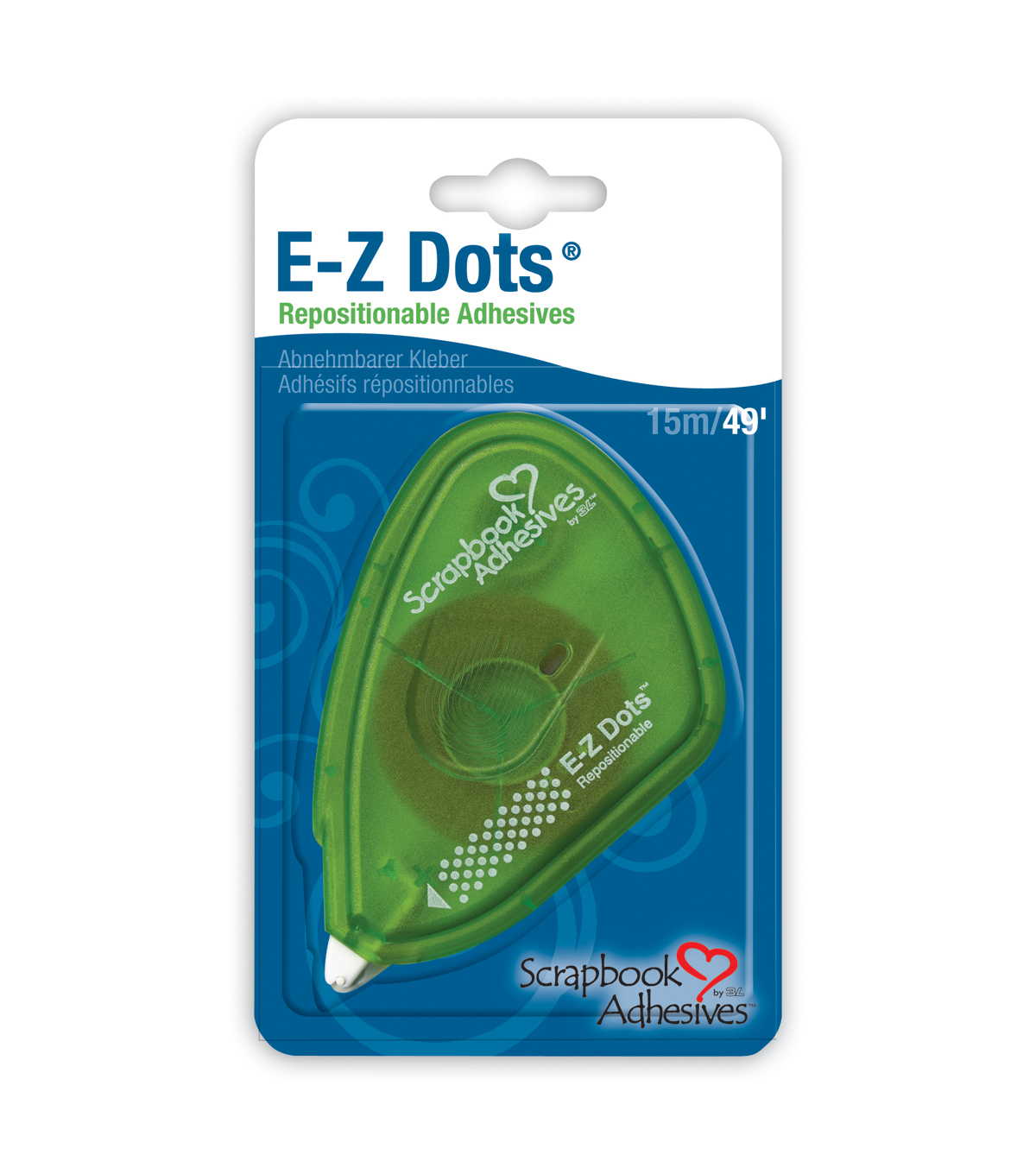 Scrapbook Adhesives E-Z Dots Dispenser-Repositionable-.375\u0022X49\u0027