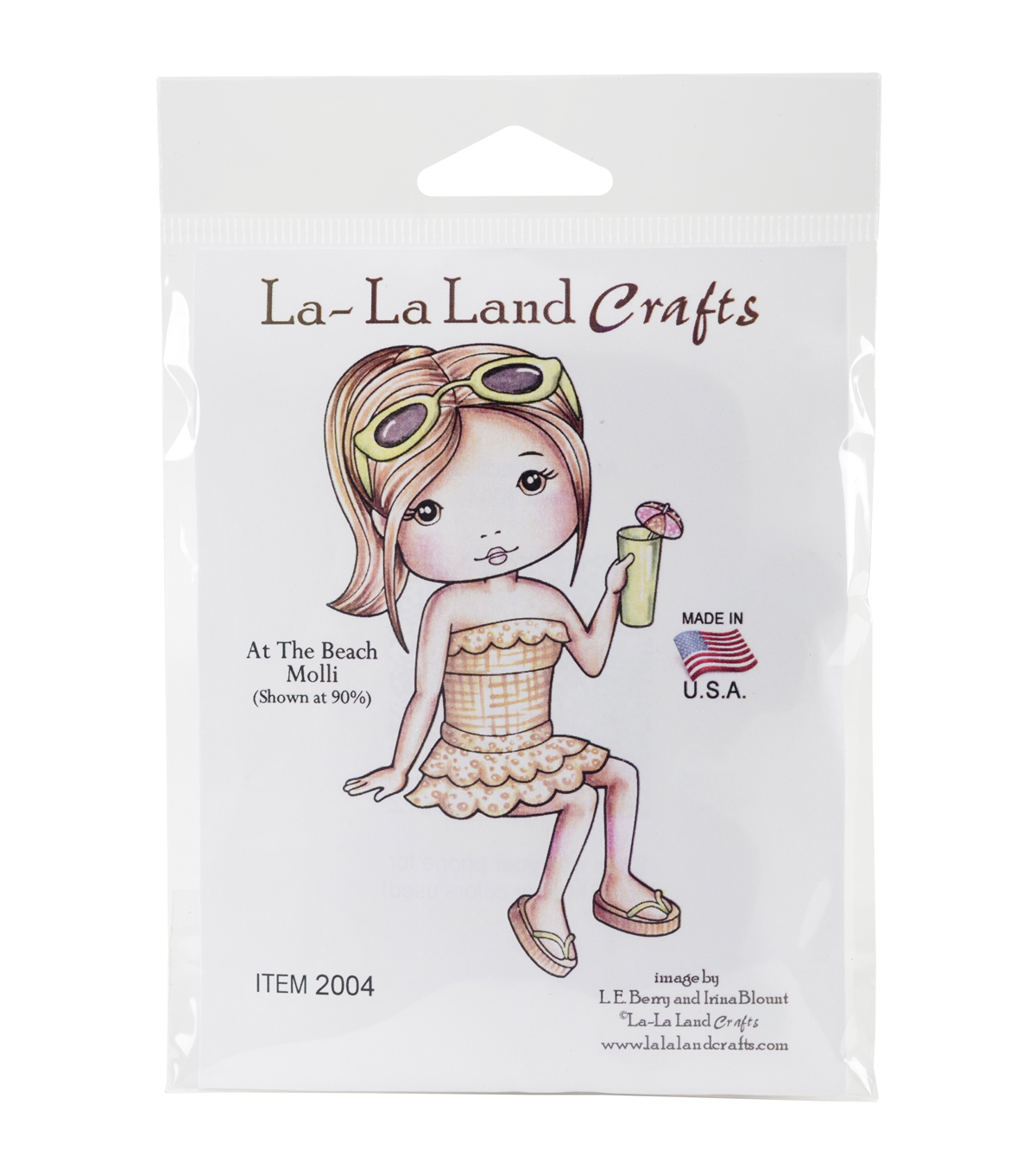 La-La Land Crafts Cling Stamps-At The Beach Molli