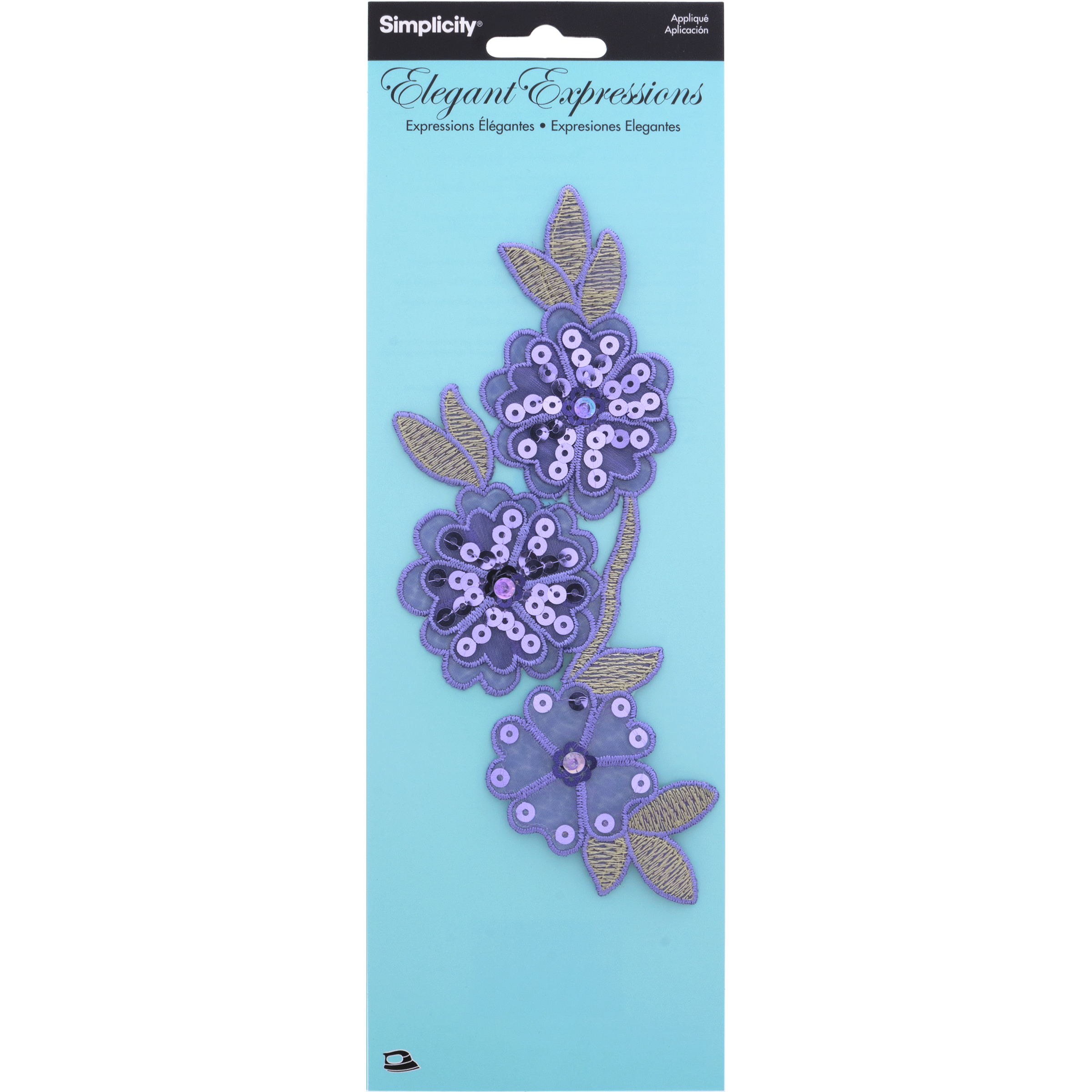 Aplg Sequin Flowers On Vine Multi