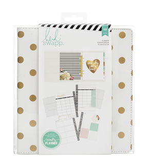 Heidi Swapp Large Memory Planner-Gold Foil Dots