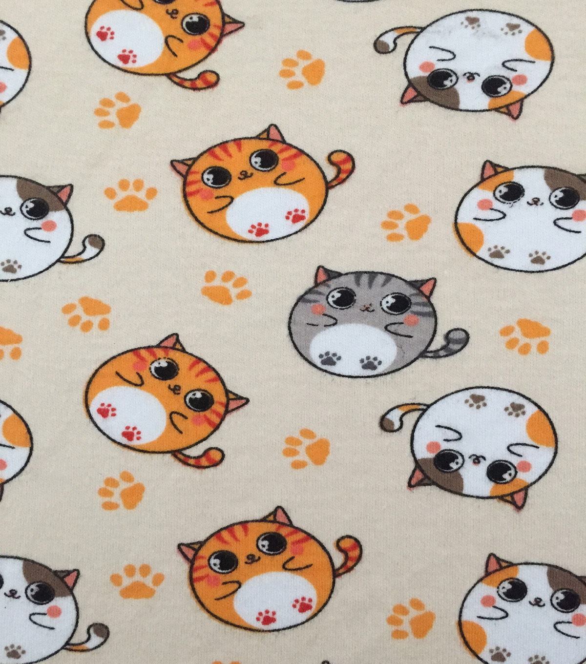 Doodles® Cotton Fabric 57\u0022-Rolly Polly Kitty