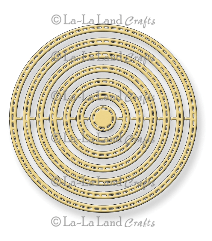 La-La Land Crafts Stitched Nested Circles Dies