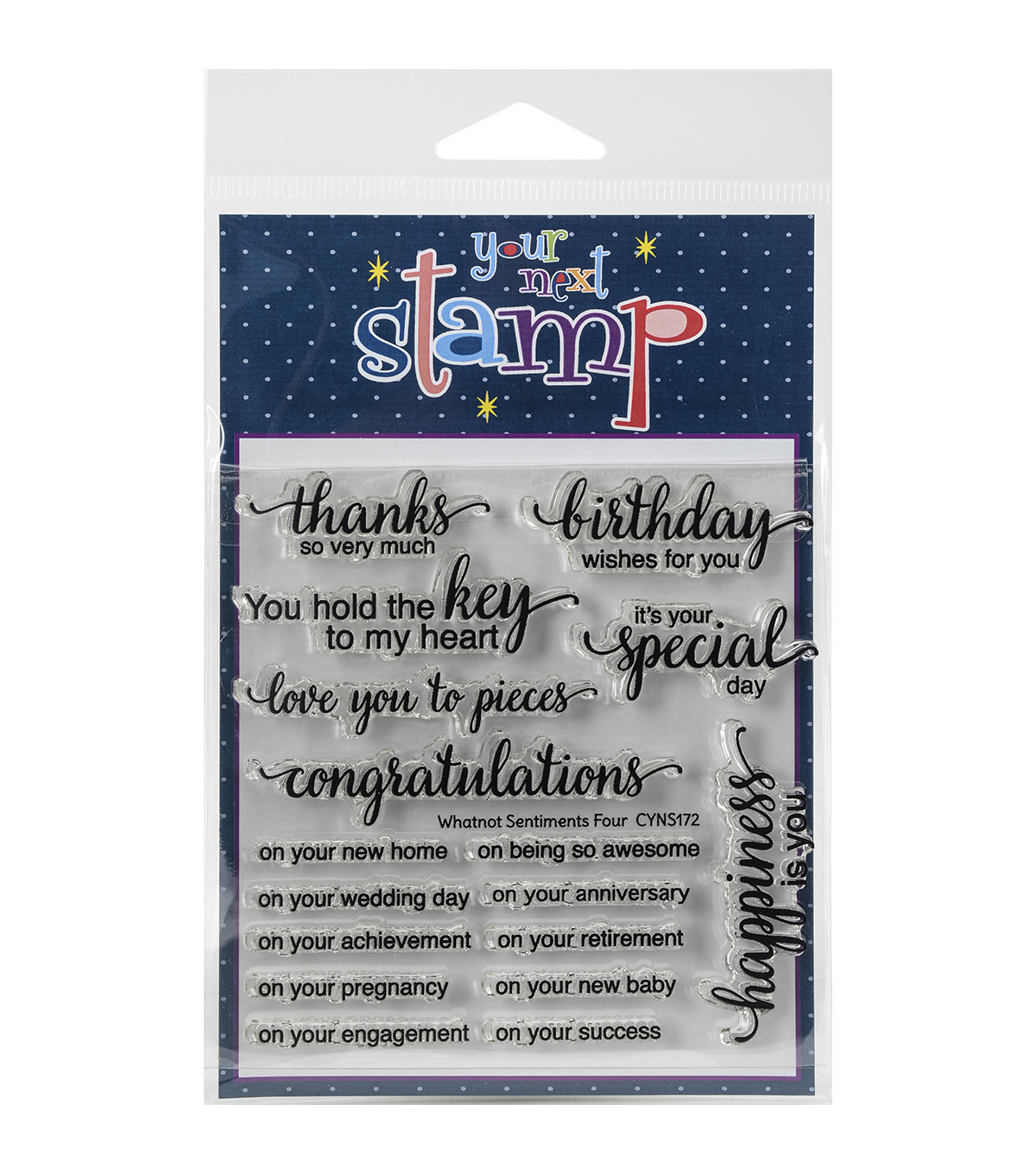 Your Next Stamp Clear Stamps-Whatnot Sentiment Set Four