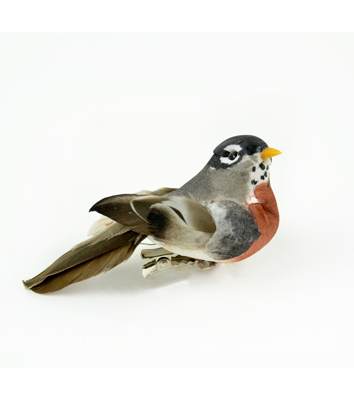 "American Robin with Clip 4"" Bird-1 pc"
