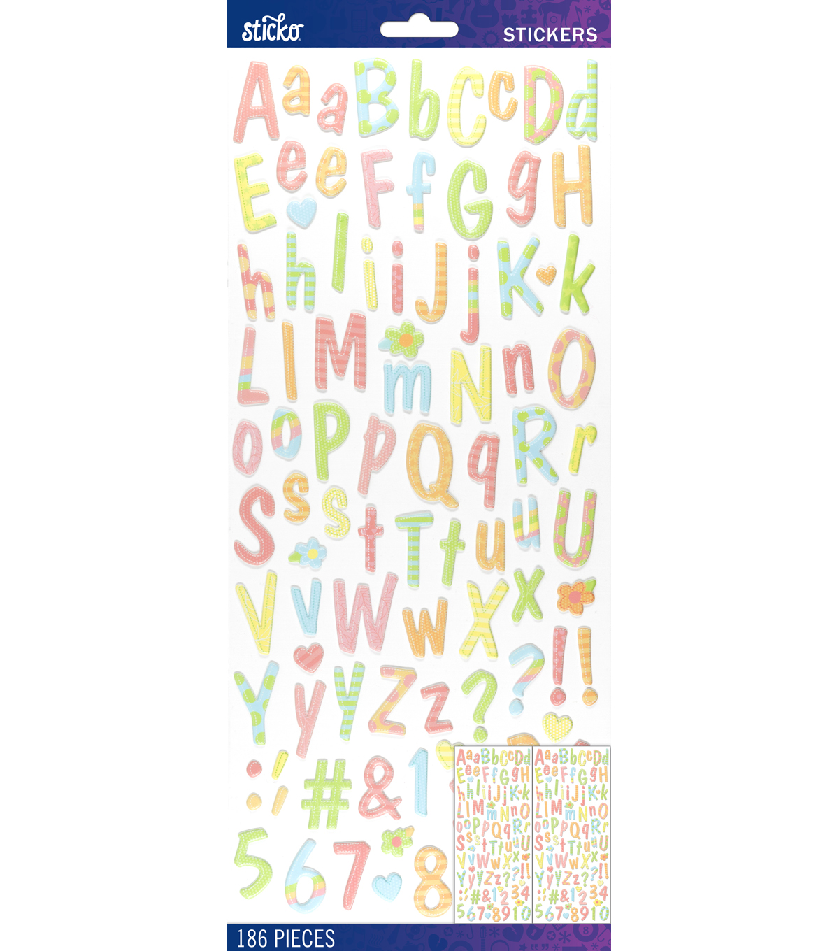 Sticko® Puffy Dom Casual Dimensional Alphabet Stickers-Pastel