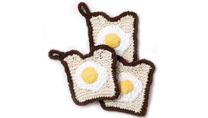 Knit: Toast Dishcloth