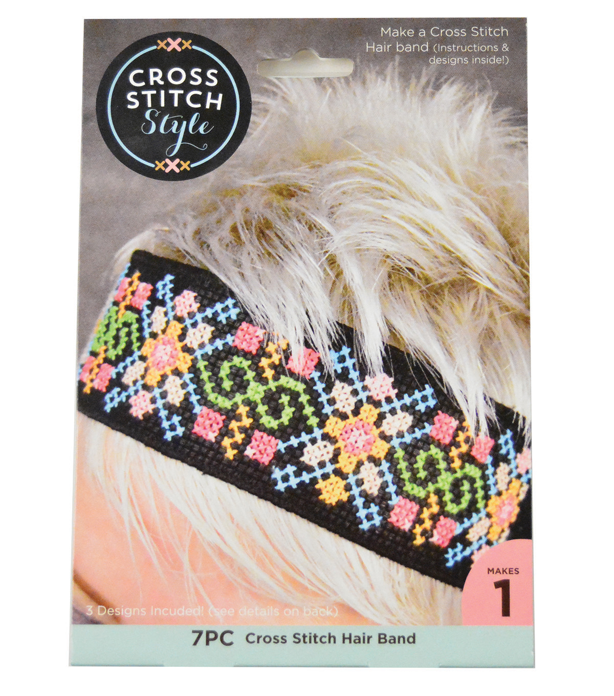 Cross Stitch Style Cross Stitch Hair Band