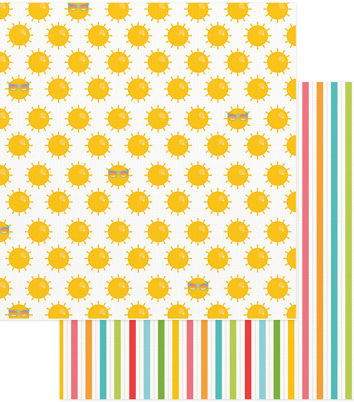 Summer Bucket List Double-Sided Cardstock 12\u0022X12\u0022-Summer Sun