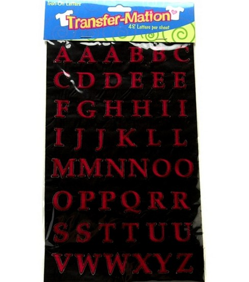 Wrights® Transfer-Mation Iron-On Capital Letters Red