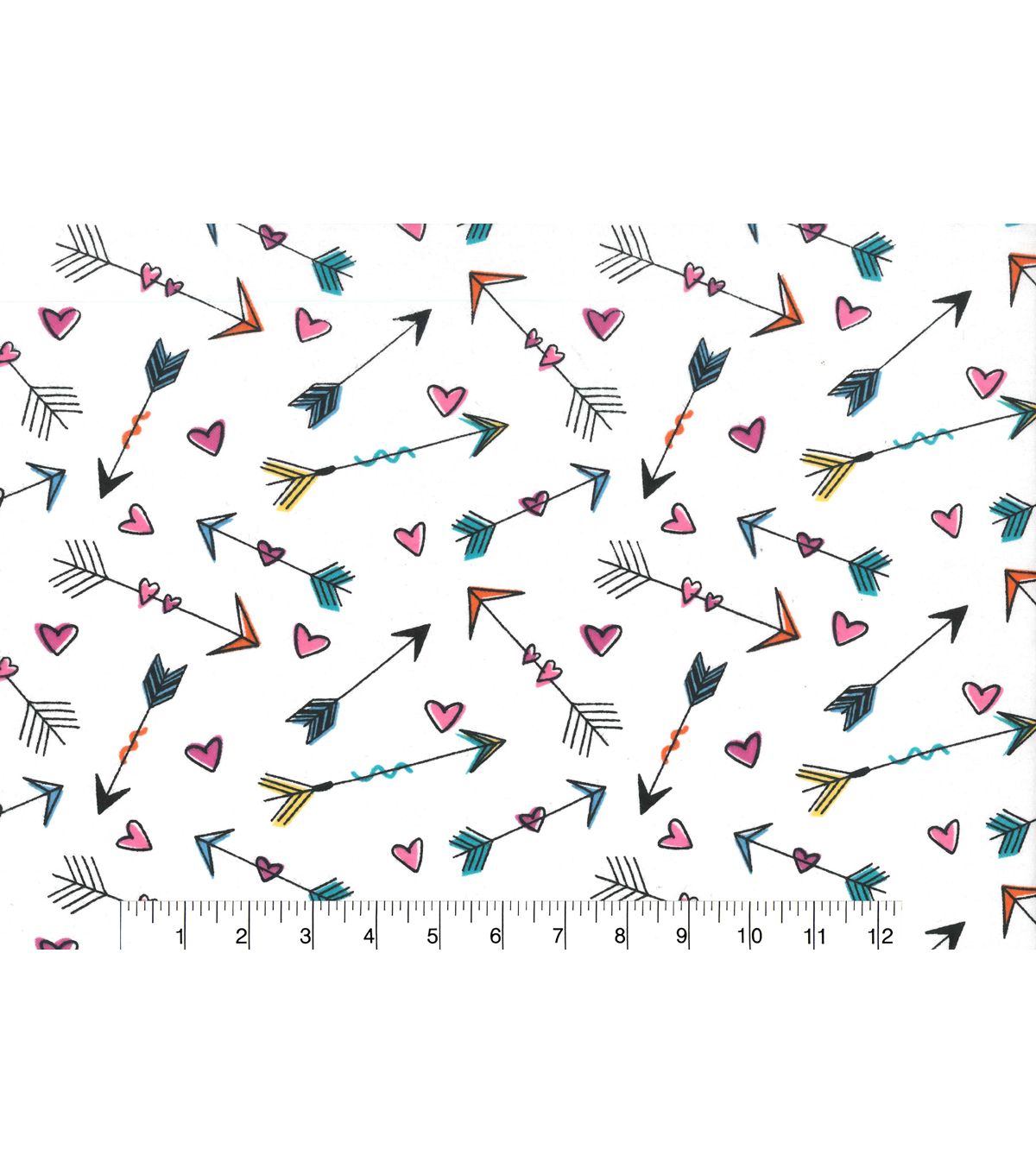 Snuggle Flannel Fabric 42\u0027\u0027-Hearts & Arrows