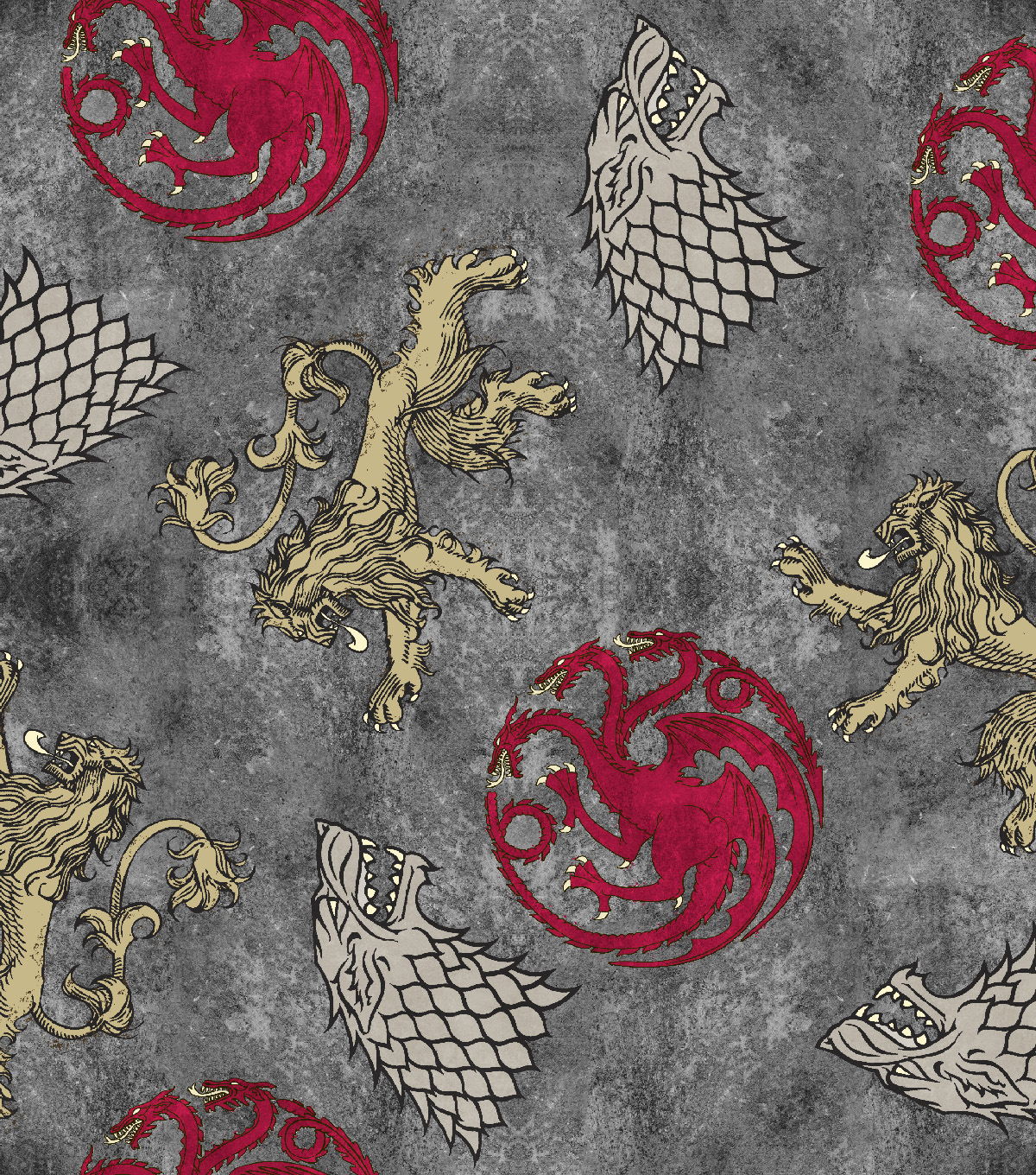 Game of Thrones Cotton Fabric 43\u0022-Power Play