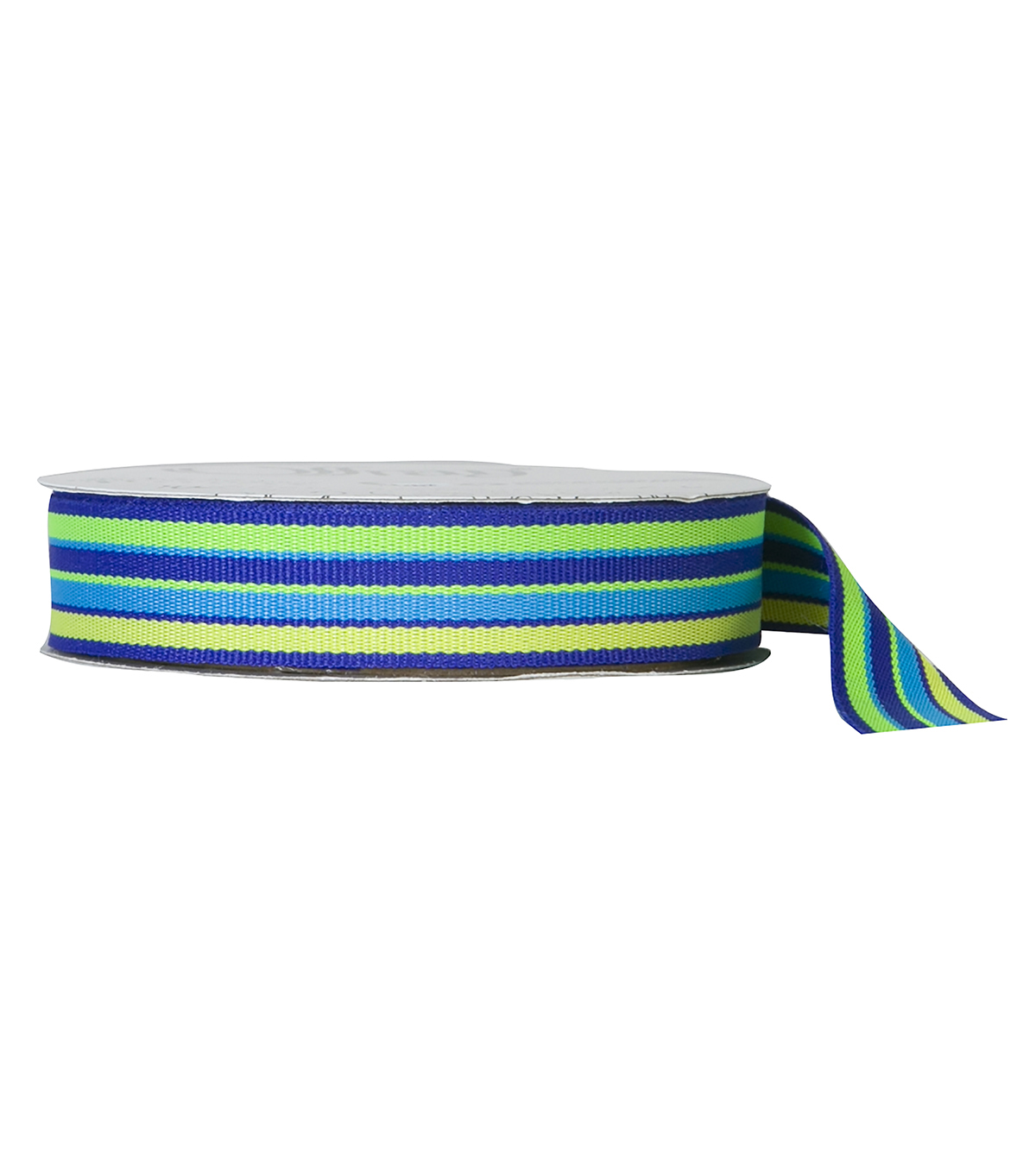 Offray 5/8\u0022x9\u0027 Sweet Sour Stripes Grosgrain Ribbon-Yellow and Blue