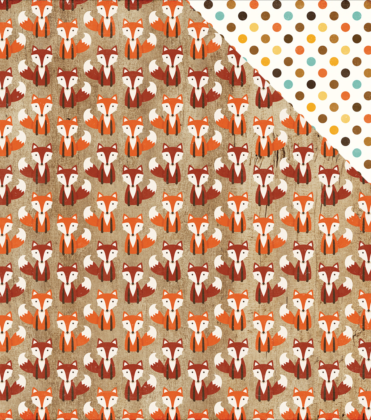 "A Perfect Autumn Double-Sided Cardstock 12""X12""-Silly Fox"