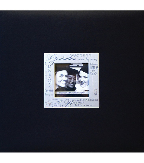 MBI Expressions Post Bound Album w/Window 8\u0022X8\u0022-Graduation - Black