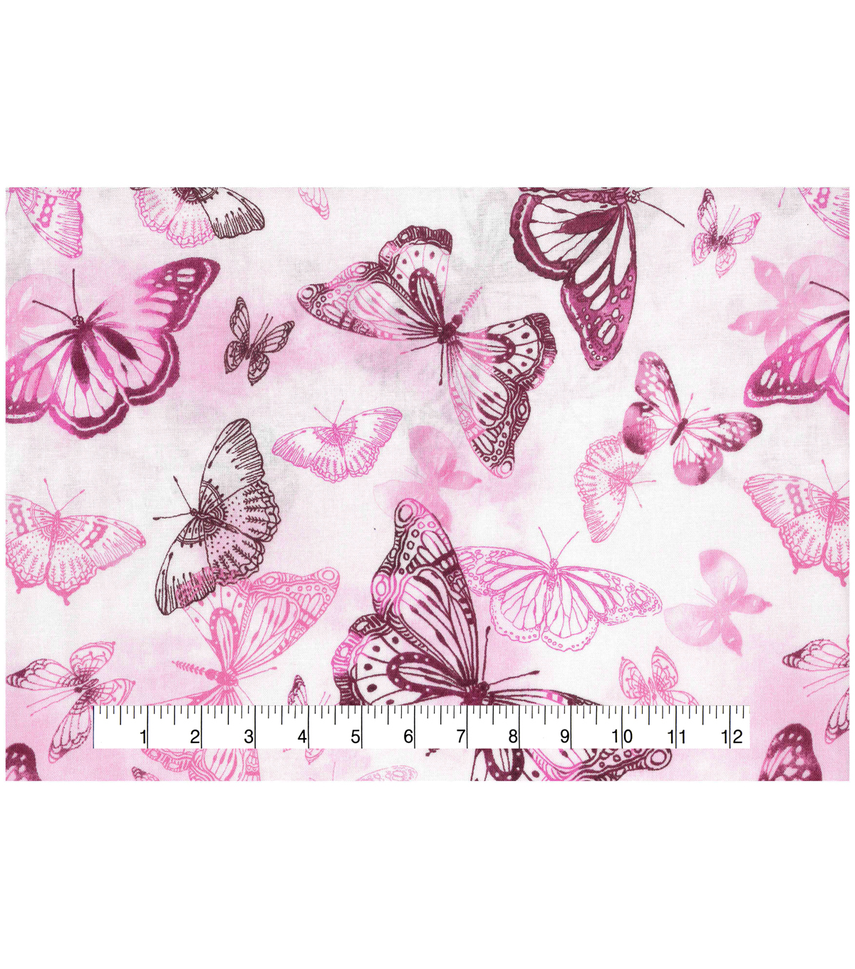 Keepsake Calico Cotton Fabric 43\u0027\u0027-Butterfly Watercolor