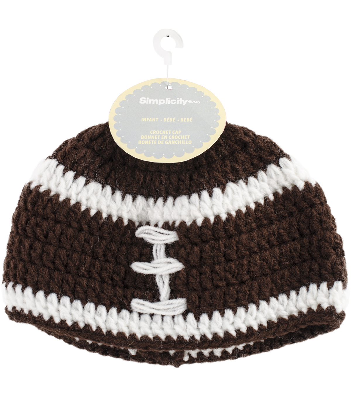 Crocheted Hats For Babies-Football