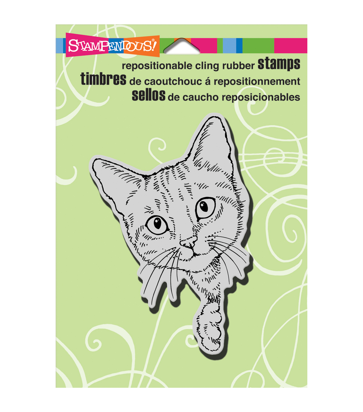 Stampendous Feline Curious Cling Rubber Stamp