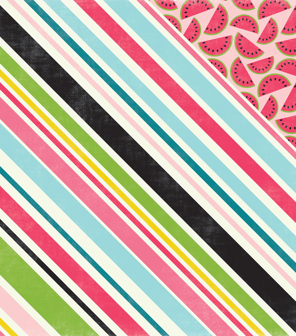"Summer Fun Double-Sided Cardstock 12""X12""-Sweet Stripe"