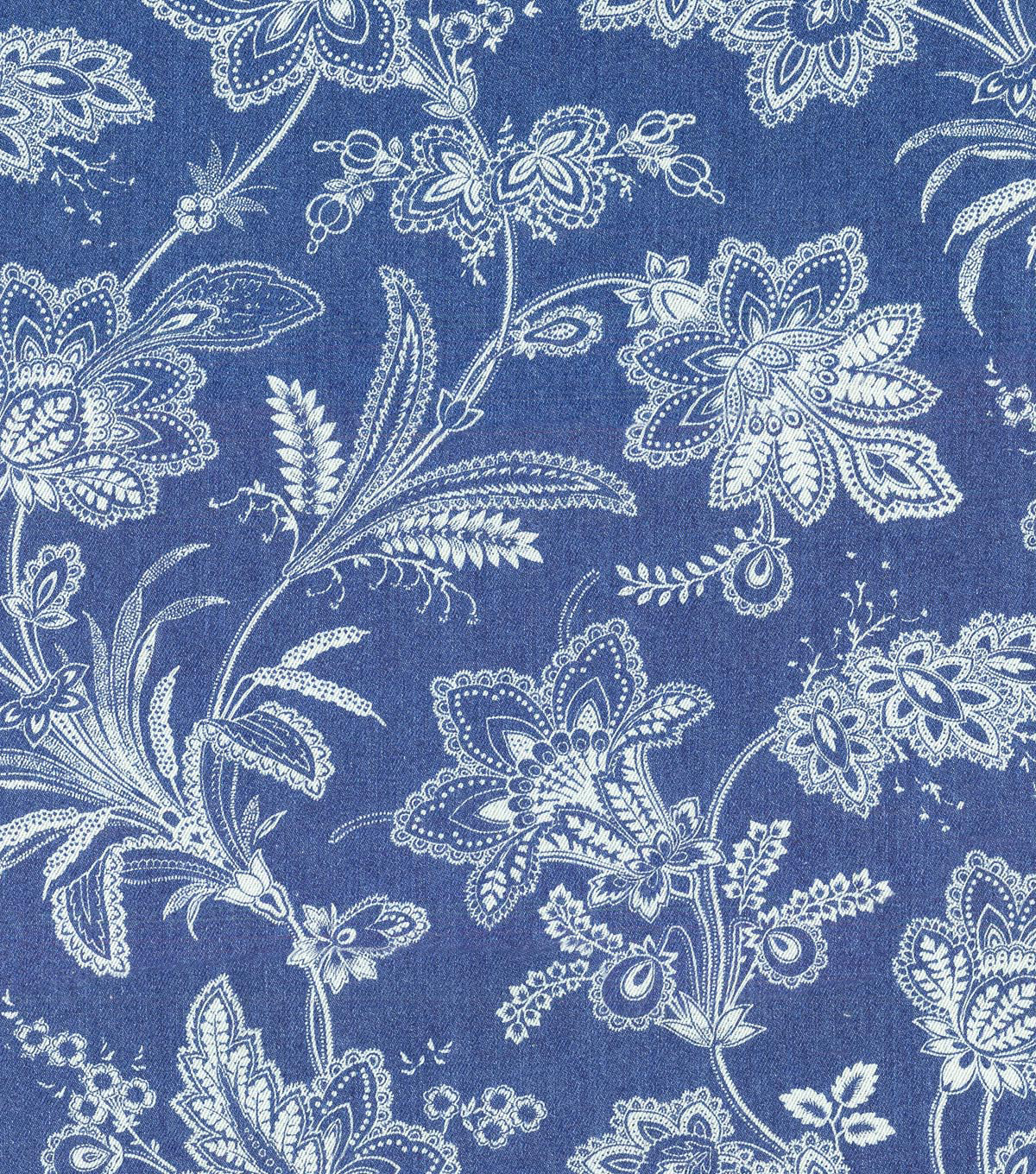 Waverly Upholstery Fabric-Follow the Trail Denim